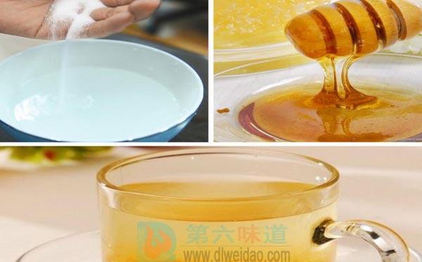 蜂蜜养生保健食谱——蜂蜜盐水汤。蜂蜜30克,食盐6克——第六味道